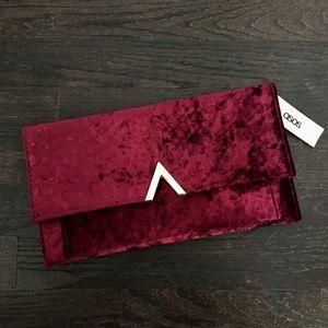 ASOS Red Velvet Clutch